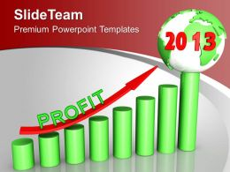 2013 Year Of Business Profit PowerPoint Templates PPT Backgrounds For Slides 0113