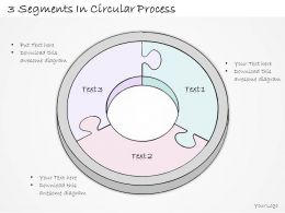 2014 Business Ppt Diagram 3 Segments In Circular Process Powerpoint Template