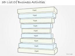 2014 Business Ppt Diagram 3D List Of Business Activities Powerpoint Template