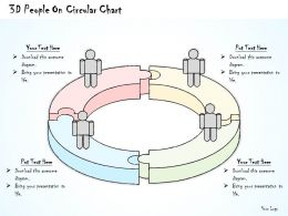 2014 Business Ppt Diagram 3D People On Circular Chart Powerpoint Template