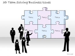 2014 Business Ppt Diagram 3D Team Solving Business Issues Powerpoint Template