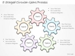 2014 Business Ppt Diagram 5 Staged Circular Gears Process Powerpoint Template