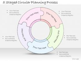 2014 Business Ppt Diagram 5 Staged Circular Planning Process Powerpoint Template