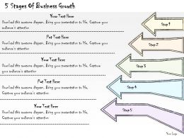 2014 Business Ppt Diagram 5 Stages Of Business Growth Powerpoint Template