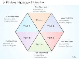 2014 Business Ppt Diagram 6 Factors Hexagon Diagram Powerpoint Template
