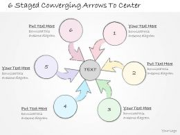 2014 Business Ppt Diagram 6 Staged Converging Arrows To Center Powerpoint Template