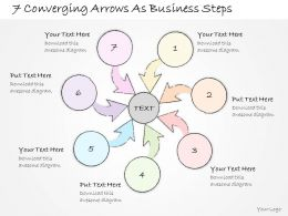 2014 Business Ppt Diagram 7 Converging Arrows As Business Steps Powerpoint Template
