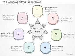 2014 Business Ppt Diagram 7 Diverging Steps From Circle Powerpoint Template