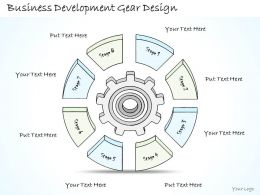 2014 Business Ppt Diagram Business Development Gear Design Powerpoint Template