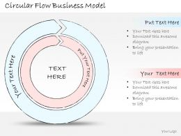 2014 Business Ppt Diagram Circular Flow Business Model Powerpoint Template