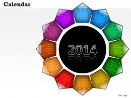 2014 Calendar Create Your Amazing Year Template and Powerpoint Slide for Planning