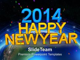 2014 Happy New Year PowerPoint Templates PPT Backgrounds For Slides 1113