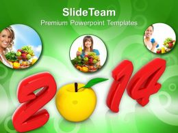 2014 New Year Health PowerPoint Templates PPT Backgrounds For Slides 1113
