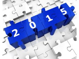 2015 Puzzle Illustration Stock Photo