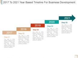 2017 To 2021 Year Based Timeline For Business Development Powerpoint Sample