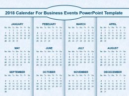2018 Calendar For Business Events Powerpoint Template