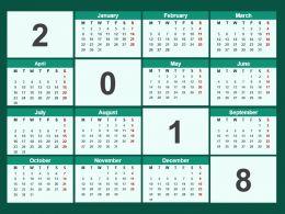 2018 Calendar Powerpoint Template