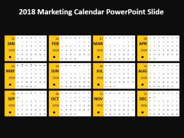 2018 Marketing Calendar Powerpoint Slide