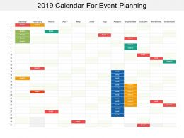 2019 Calendar For Event Planning