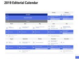 2019 Editorial Calendar Ppt Powerpoint Presentation Portfolio Design Inspiration