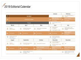 2019 Editorial Calendar Ppt Powerpoint Presentation Styles Ideas
