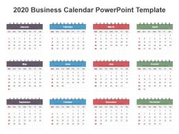2020 Business Calendar Powerpoint Template