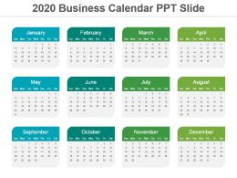 2020 Business Calendar Ppt Slide