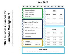 2020 Business Planner For Purchase Management