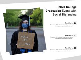 2020 College Graduation Event With Social Distancing