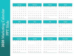 2020 Marketing Calendar Ppt Slide