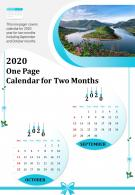 2020 One Page Calendar For Two Months Presentation Report Infographic PPT PDF Document