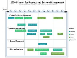 2020 Planner For Product And Service Management