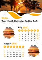 2020 Two Month Calendar On One Page Presentation Report Infographic PPT PDF Document
