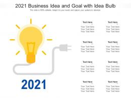 2021 Business Idea And Goal With Idea Bulb Infographic Template