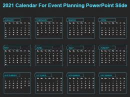 2021 Calendar For Event Planning Powerpoint Slide
