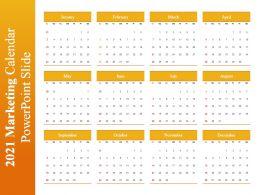 2021 Marketing Calendar Powerpoint Slide