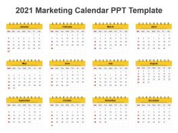 2021 Marketing Calendar Ppt Template