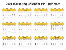 2021 Marketing Calendar Ppt Template