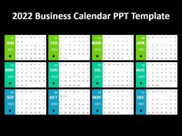 2022 Business Calendar Ppt Template