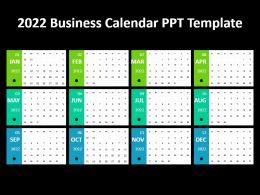 2022 Business Calendar Ppt Template