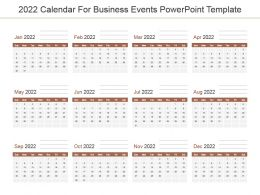 2022 Calendar For Business Events Powerpoint Template