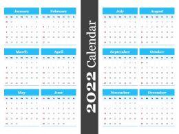 2022 Calendar Powerpoint Template