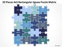 20 Pieces 4x5 Rectangular Jigsaw Puzzle Matrix Powerpoint templates 0812