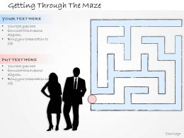 2102 Business Ppt Diagram Getting Through The Maze Powerpoint Template