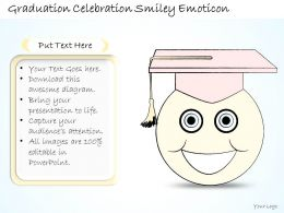 2102 Business Ppt Diagram Graduation Celebration Smiley Emoticon Powerpoint Template