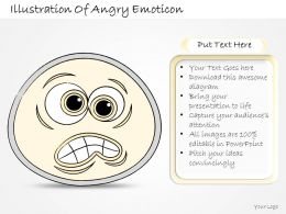 2102 Business Ppt Diagram Illustration Of Angry Emoticon Powerpoint Template