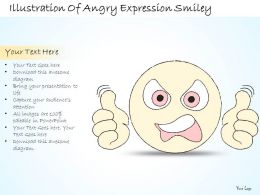 2102 Business Ppt Diagram Illustration Of Angry Expression Smiley Powerpoint Template