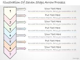 2102 Business Ppt Diagram Illustration Of Seven Steps Arrow Process Powerpoint Template