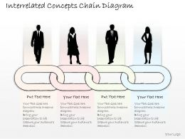 2102 Business Ppt Diagram Interrelated Concepts Chain Diagram Powerpoint Template