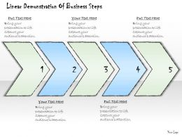 2102 Business Ppt Diagram Linear Demonstration Of Business Steps Powerpoint Template